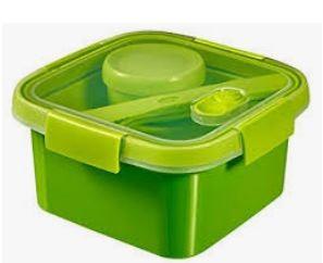 KETER CURVER 232572 Smart To Go Lunch Kit quadrado 1,1L P(cm)16,2 A(cm)8,8 L(cm)16,2