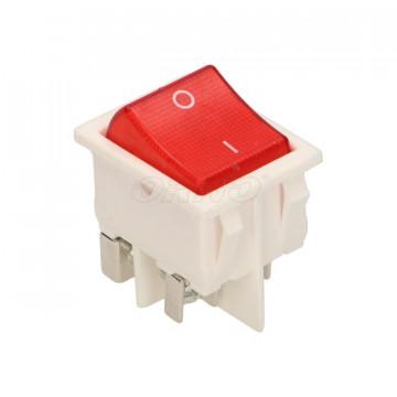 LK-6/B ORNO - Interruptor Switch Branco / Vermelho