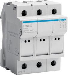 LSN503 - Corta-circuitos 3P 32A 400V L38 3M HAGER EAN:3250614120091