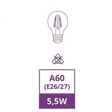 MRD-A600E2755CEA - LÂMPADA E27 A60 LED FILAMENTO 5,5W 2300K AMBER GLASS OMNIUM ELECTRIC