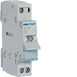 SFT125 - Inversor Modular c/ponto zero, 1P 25A HAGER EAN:3250615510747