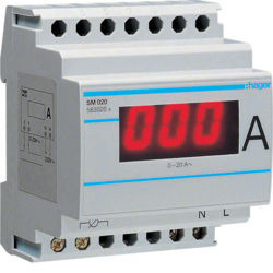 SM020 - Amperímetro digital directo 0-20A HAGER EAN:3250615630209