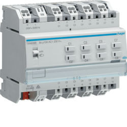 TXA608B - Actuador bin./est. 8 canais 10A KNX HAGER EAN:3250616048836
