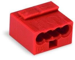 WAGO - Ligador MICRO PUSH WIRE { B 0,6-0,8mm* | vermelho | 4 condutores | ref. 243-804