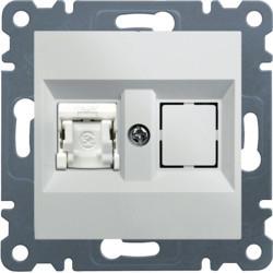 WL2150 - lumina 2 RJ45 Cat.6 UTP simples, branco HAGER EAN:8694407001146