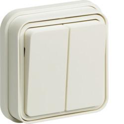 WNE040B - cubyko e - Comutador escada duplo, branc HAGER EAN:3250617173407