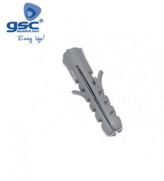 000301306 - Saco de 100 plugues de expansão de nylon cinza 8 mm 8433373013063