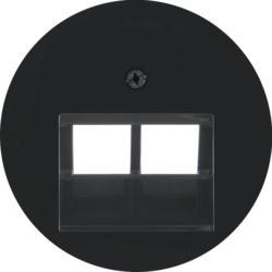 14092045 - R.x - espelho RJ45 duplo, preto BERKER EAN:4011334367017