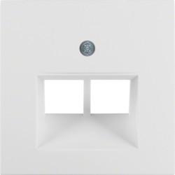 14098989 - S.1/B.x - espelho RJ45 duplo, branco BERKER EAN:4011334280538
