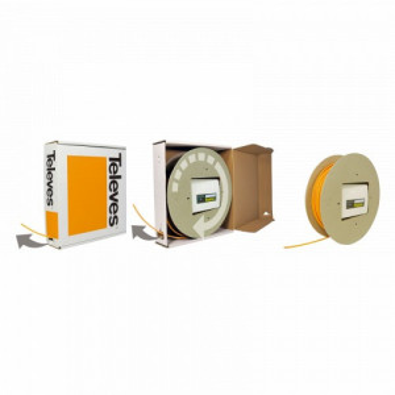 231532 -8424450186978 TELEVES - Repartidor de Cliente de Fibra Óptica 4 Saídas, 4 fibras de 40m pré-conectorizada (1)(2)