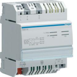 42 - TXA114 - 3250616048997 Fonte alimentação 30V KNX DC + 24V DC HAGER