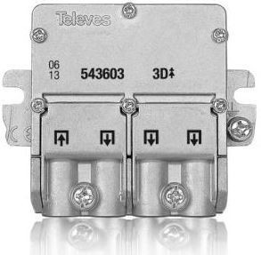 "543603 -8424450165775 TELEVES - Mini-Repartidor 5...2400MHz ""EasyF"" 3D 8,5/7,5dB Interior"