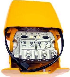 """561801 -8424450161012 TELEVES - Amplificador Mastro NanoKom 3e/1s """"EasyF"""": BIII-UHF[dc]-FMmix G 21-29- (-2)dB Vs 107dBµV c/USOS. Alim. 12...24V (Passagem DC Comutável)"""