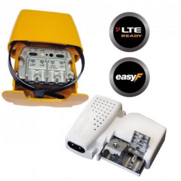 """567810 -8424450174043 TELEVES - Amplificador Mastro NanoKom 3e/1s """"EasyF"""" : UHF-VHFmix-FImix[dc] con USOS + Alimentação PicoKom 1e/2s """"EasyF"""" 12V-200mA. Kit com Refs.: 561602 e 579401"""