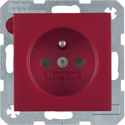 6765760062 - S.1/B.x - tomada FR obturad., encarn mt BERKER EAN:4011334238492