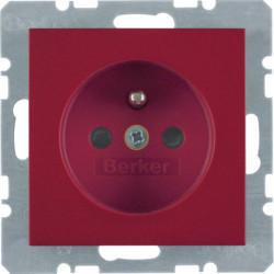6765768962 - S.1/B.x - tomada FR obturad., encarnado BERKER EAN:4011334280323