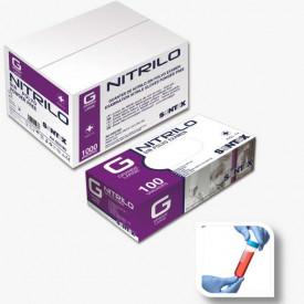HOSPITALAR - GD21 -P - Luvas NITRILO AZUL SEM PÓ SPECIAL Descartável com substancia revestida TAM P (100 uni) SANTEX