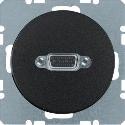 BERKER - 3315412045 - R.1/R.3 - tomada VGA paraf., preto 23