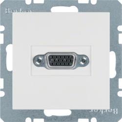 BERKER - 3315418989 - S.1/B.x - tomada VGA paraf., branco 23