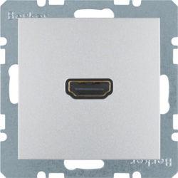BERKER - 3315431404 - S.1/B.x - tomada HDMI ficha 90º, alum mt 23