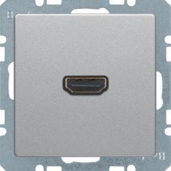 BERKER - 3315436084 - Q.x - tomada HDMI ficha 90º, alumínio 23