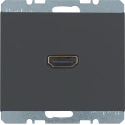 BERKER - 3315437006 - K.1/K.5 - tomada HDMI ficha 90º, antr mt 23