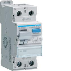 CDC525A - Inter. dif. 1P+N 25A 30 mA tipo AC 2M HAGER EAN:3250611621263