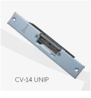 CV-14 UNIP Trinco eléctrico Fecho ajustável, Cx reduzida INOX 12V AC/DC GOLMAR