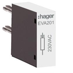 EVA201 - Supressor para 230 V para tamanho 1 HAGER EAN:3250612232116