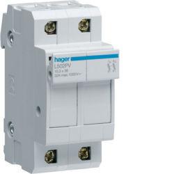 L502PV - Corta-Circuitos p. Fusíveis 2P 1000VDC HAGER EAN:3250614124822