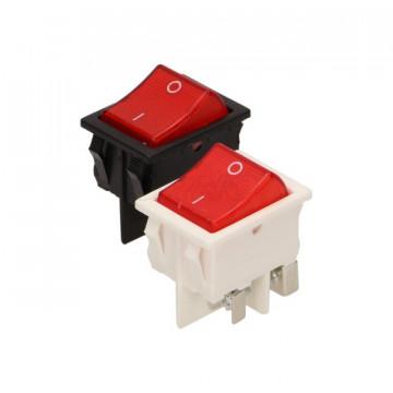 LK-6/P ORNO - Interruptor Switch Preto / Vermelho