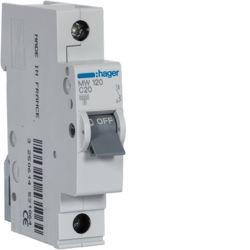 MW120 - Disjuntor 1P 20A C 3kA 1 M HAGER