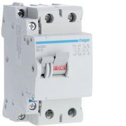 SA280 - Interruptor bipolar 2x80A 2,5M HAGER EAN:3250615512802