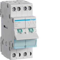SFT225 - Inversor Modular c/ponto zero, 2P 25A HAGER EAN:3250615510792