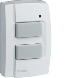 TRE302 - BP 2 canais RF KNX IP55 HAGER EAN:3250615989260