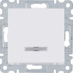 WL0210 - lumina 2 Interr.simples c/sinaliz, branc HAGER EAN:8694407000316