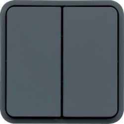 WNA044 - cubyko - Botão inversor duplo, cinzento HAGER EAN:3250617174442