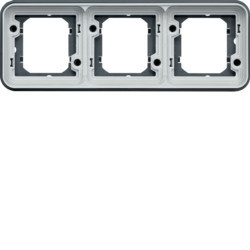 WNA403 - cubyko - Quadro x3 horizontal, cinzento HAGER EAN:3250617174435