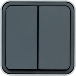 WNC044 - cubyko s - Botão inversor duplo, cinz HAGER EAN:3250617170444