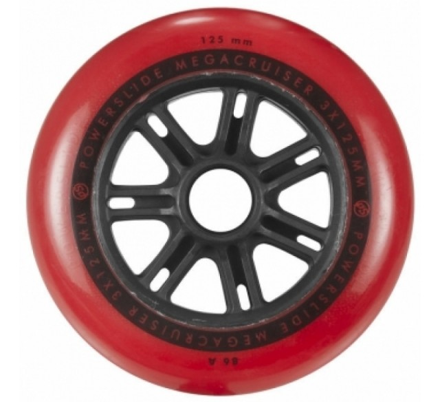 Powerslide Megacruiser: Powerslide Megacruiser Wheel 125mm / 86A Red