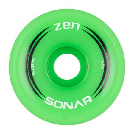 Sonar Zen 62mm/85A - Outdoor Wheels - Green - Pack 4un