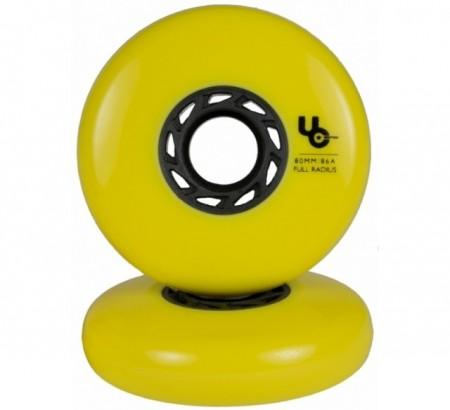 UNDERCOVER Team 80mm/86a, full Radius, yellow, 4-Pack