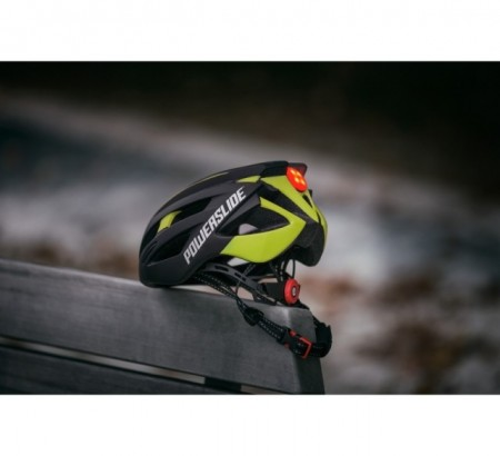Powerslide Capacete Race Attack - Preto/Amarelo
