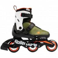 Rollerblade Microblade Free 3WD - Military Green/orange