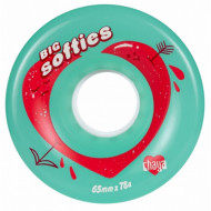 Chaya Big Softies 65mm/78A Clear Teal, 4-Pack