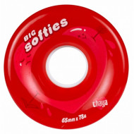 Chaya Big Softies 65mm/78A Clear Red, 4-Pack