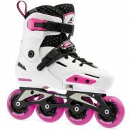 Rollerblade Apex White/Pink - Patins Ajustáveis