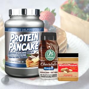 Pack Pequeno-almoço - Panquecas + Manteiga de Amendoim + Syrup
