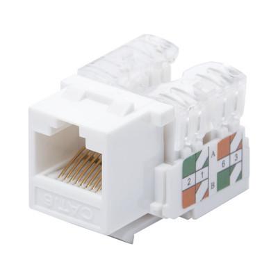 LINKEDPRO - LP-KJ-601-WH - Módulo Jack Keystone Cat6 con terminación 110 (Punchdown) para faceplate - Color Blanco
