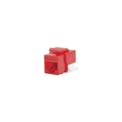 LINKEDPRO - LP-KJ-610-RD - Módulo Jack Cat6 sin Herramienta (toolless) keystone para faceplate - Color Rojo